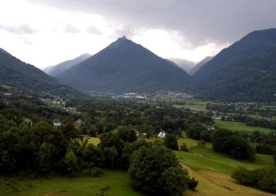Panorama des montagnes pyrénéenes.